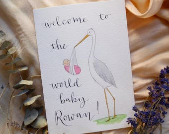 Custom Baby Card | Personalized Baby Shower Greeting Card