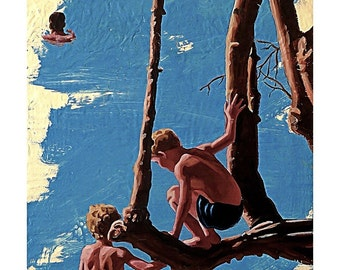 ABC's Modern Family-The Swimming Tree-Giclee-Stillman-14x20in.