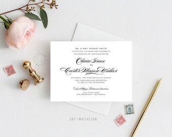 OLIVIA SUITE || Printable Wedding Suite, Simple, Elegant, Chic, Invitation, Thank You, RSVP, Belly Band, Menu