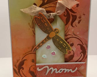 Mother's Day card with dragonfly