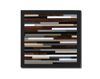 Rustic Modern Wood Wall Art Sculpture - Abstract Wall Art - Wood Wall Art - Modern Home Decor