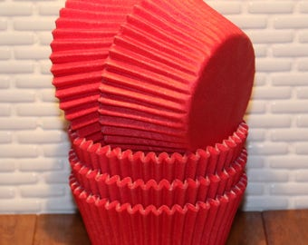 NEW - Red Heavy Duty Cupcake Liners (Qty 32) Red Heavy Duty Baking Cups, Red Cupcake Liners, Red Baking Cups, Cupcake Liners, Baking Cups