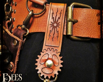 Steampunk - Leather Belt Hanger