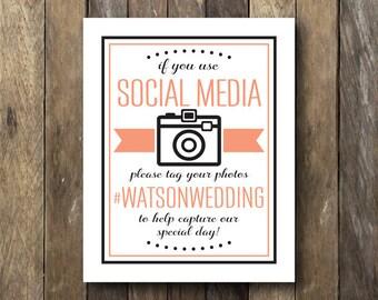 Wedding Hashtag Sign - If You Hashtag Sign - Printable Wedding Signage - Party Hashtag Sign