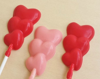 Solid Chocolate Heart Pops - Valentine's Day (12)