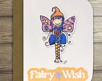 Fairy Wish Greeting Card- Michela