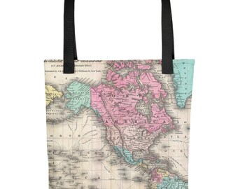 World map book bag etsy popular items for world map book bag gumiabroncs Image collections