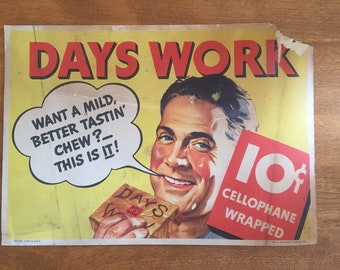 Days Work vintage tabaco advertising