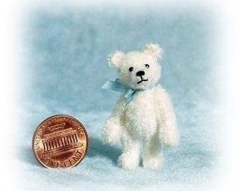 Tiny White Bear Miniature Teddy Bear Kit - Pattern - by Emily Farmer