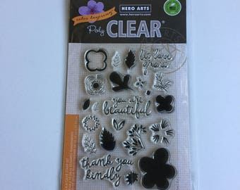 "Hero Arts ""Color Layering Let Love Grow"" Clear Stamp Set #CL865 - Brand New, Never Used - Perfect for Cards, Scrapbooking Pages"