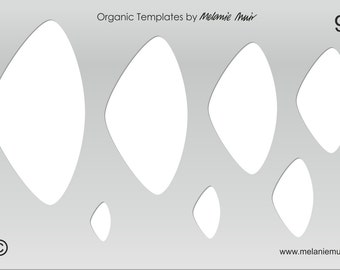 No 9 Clear Acrylic Template/Stencil for Polymer/Metal Clay/Jewellery/Crafting