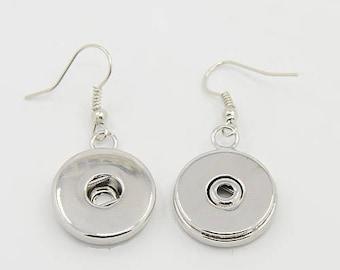 Snap Button Shepard Hook Earring Making