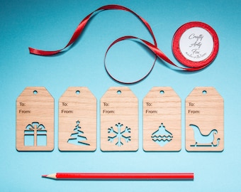 5 Christmas Wooden Gift Tags, Gift Tag, Blank Gift Tag, Wooden Hang Tag, Hang Tag, Oak Tag, Christmas Gift Tag, Blank Wood Tag, Swing Tag