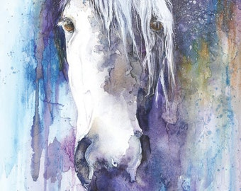 Horse Art Print. Horse Illustration, Horse, Horse print, Horse Wall Art, Watercolour Horse Print, Digital Horse Print, Horse Painting Print,