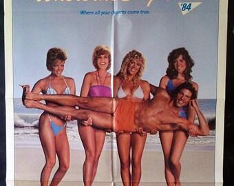 Where The Boys Are '84 - Original 1984 Comedy Movie Poster - Lisa Hartman - Where All Your Dreams Come True!
