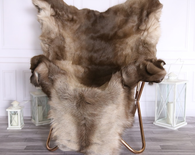 Reindeer Hide   Reindeer Rug   Reindeer Skin   Throw Large  - XXXL GIANT  Scandinavian Style #BRE3