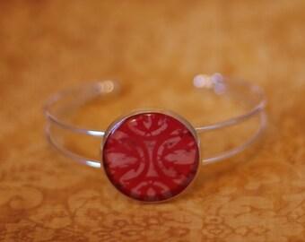 "Pink & Red ""Hazard"" Bracelet"