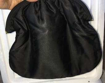 Black Silk handbag