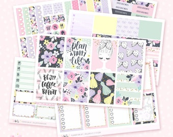 Planner Girl - Sticker Kit / 6 pages, matte or glossy planner stickers