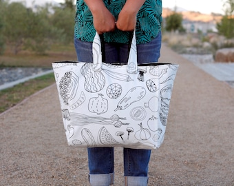 Market Tote, canvas tote bag, large tote