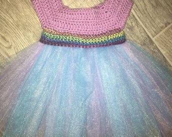 Crotchet and Tulle Dress