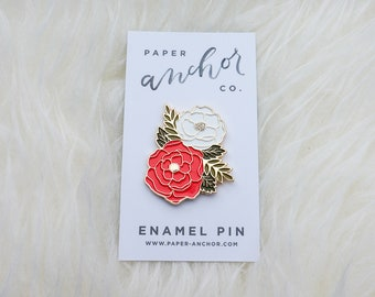 Irene Floral Enamel Pin | Cute Floral Cluster Lapel Pin | Plant Pin | Flower Pin | Enamel Lapel Pin | Brooch | FREE U.S. SHIPPING