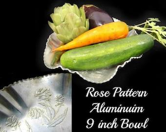 Hammered Aluminum , Aluminum Ware,  Aluminum  Centerpiece ,  Aluminum Bowl, collectible Aluminum  -# 63