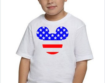 4th of July Shirt / Boys 4th of July Shirt / Kids Mickey Mouse Shirt / Toddler Disney Shirt / Boys Mickey Shirt / Boy's Disney Shirt /Disney