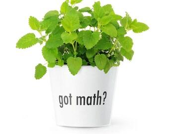 Lustiges Geschenk für Mathematik Lehrer | Got math Blumentopf (ø16cm)