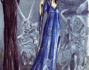 Moon Spirits ~ Original Watercolour Painting