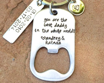 Boyfriend Gift, You are the best daddy in the world, Bottle Opener For Dad,Keychain, Communion Gifts, Personalized Keycha