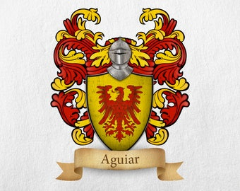 Aguiar Family Crest - Print