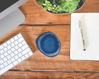Blue Agate Coasters | Extra Large