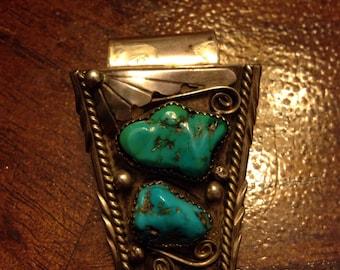 Turquoise Artisan Pendant 289a