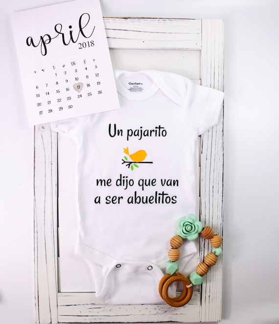 Spanish baby announcement - Onesies en Español