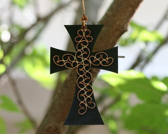 Cross, Metal  Cross, Wall Hanging Cross, Iron Cross, Home Decor