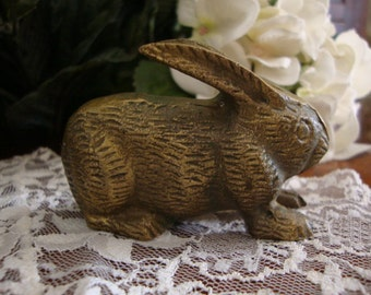 Brass bunny rabbit small