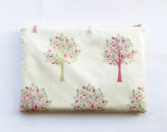 Oilcloth iPad Case / Tablet Case/ Pretty iPad Cover - Pastel Coloured Pink, Green and Blue Trees - Can be customised to fit any tablet