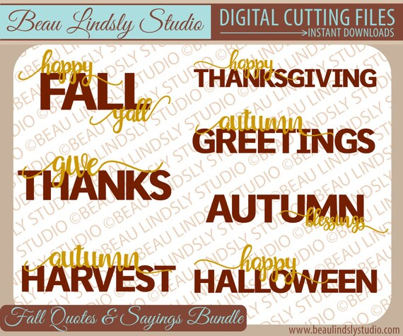 Fall svg cutting files quotes and sayings happy thanksgiving m4hsunfo