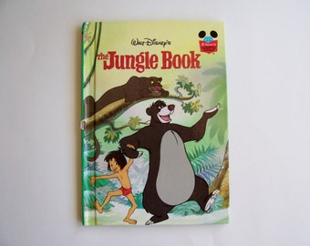 The Jungle Book Disney's Wonderful World of Reading Hardbound book, Children's Book, Story Book, Disney Book