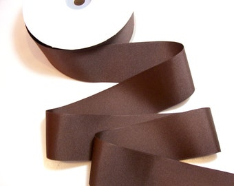 Medium Brown Grosgrain Ribbon 2 1/4 inches wide x 9 yards, SECOND QUALITY FLAWED