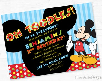 Mickey Mouse Birthday Invite | For Any Age