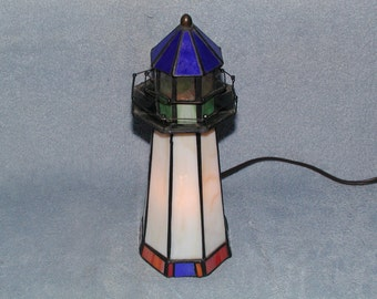 Nightlight   Lighthouse   Stained Glass