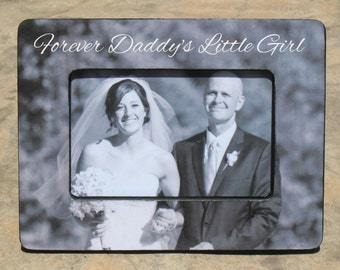 Father of the Bride Picture Frame, Custom Wedding Picture Frame, Unique Parents Thank You Gift, Personalized Photo Frame