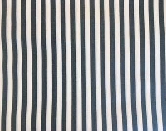 Gray fabric by the yard - gray and white fabric - gray and white striped fabric - stripe fabric - nautical fabric
