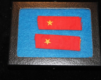 Japanese WWII Second Private Collar Tabs-Late War Issue