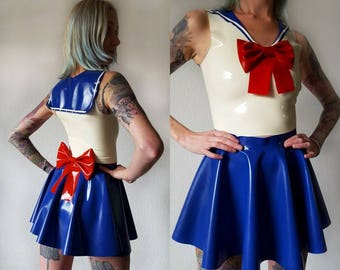 Sailor Moon inspired latex outfit