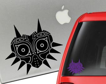 Zelda Majora's Mask Skull Kid Vinyl Decal for Laptop or Car