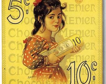 Chocolat Menier #1 Vintage French Poster Print