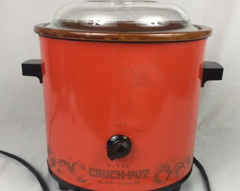 Vintage Crockpot Rival Slow Cooker from the 1970's Nice condition Works Very clean Retro crock pot